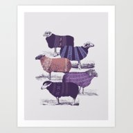 Art Print featuring Cool Sweaters by Jacques Maes