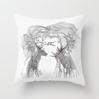Lovers And Dream Throw Pillow