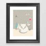 Christmas Baby Fox 05 Framed Art Print