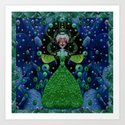 Lady Rabbit  Fantasy happy for her new dress Art Print