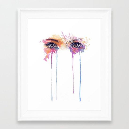 Rainbow Tears Framed Art Print