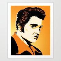 Elvis: The King Art Print