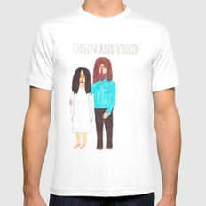 John & Yoko Mens Fitted Tee SMALL White