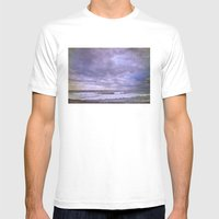 Rain storm at the sea Mens Fitted Tee White SMALL