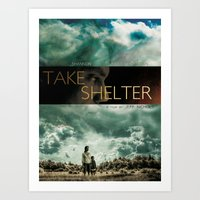 Take shelter Art Print