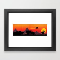 Hold on to your potatoes! Framed Art Print