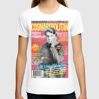 COSMARXPOLITAN, Issue 16 Womens Fitted Tee White SMALL