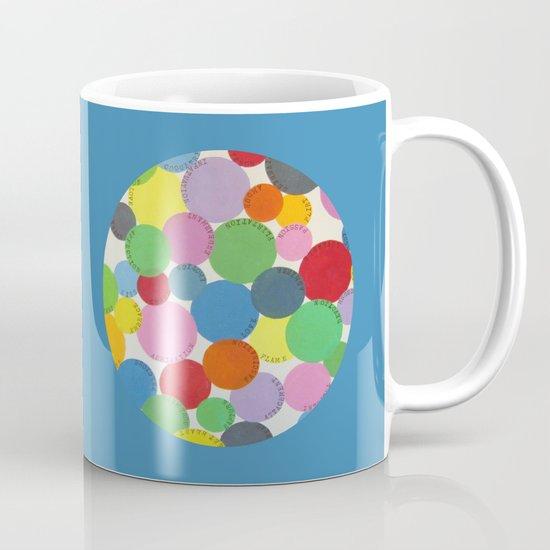 Word Bubbles Blue Mug