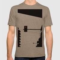 Traffic lights Mens Fitted Tee Tri-Coffee SMALL
