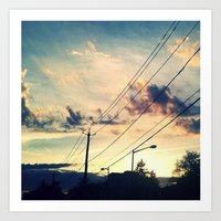 Petworth at Sunset (Washington, DC) Art Print