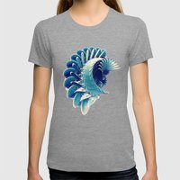 Space Abstract  Womens Fitted Tee Tri-Grey SMALL