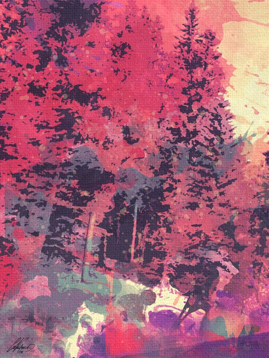 colorful forest n3 Art Print