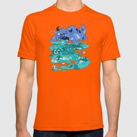 Cuteness Overload Mens Fitted Tee Orange SMALL