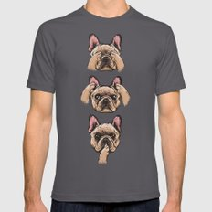 No Evil  Frenchie Mens Fitted Tee Asphalt SMALL