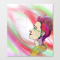 The Girl That Stared Int… Canvas Print