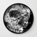 skull birds 01 Wall Clock