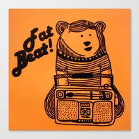 Fat Beat! Canvas Print