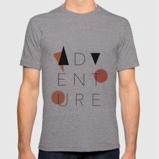 ADVENTURE Mens Fitted Tee Athletic Grey SMALL