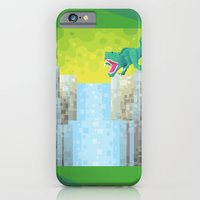 iPhone & iPod Case featuring Dino Falls by Flame