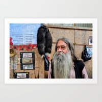 Old Currency Seller Art Print