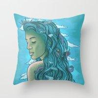 Siren of the Seas Throw Pillow