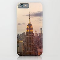 iPhone & iPod Case featuring Skyline NYC by iacolarepierre