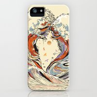 iPhone 5s & iPhone 5 Cases featuring The Wave of Love by Huebucket