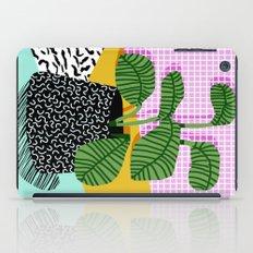 Decent - memphis retro neon throwback illustration pop art houseplant socal urban kids trendy art iPad Case