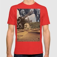 House In Desert Mens Fitted Tee Red SMALL