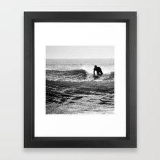 Shark food Framed Art Print
