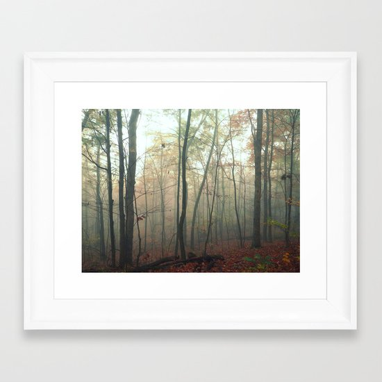 Wandering in a Fog Framed Art Print
