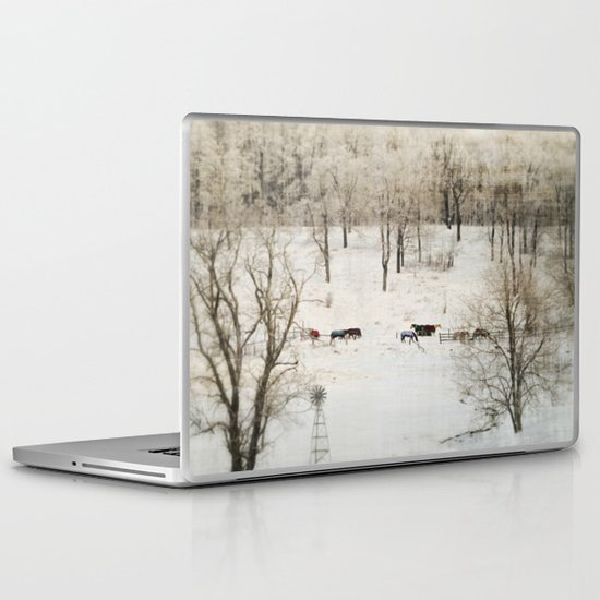 Horses in the Winter Laptop & iPad Skin