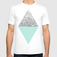 Diamond White Mens Fitted Tee SMALL
