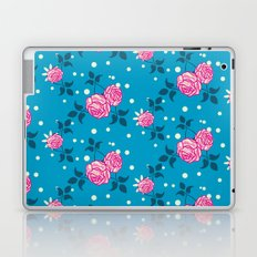 Roses on blue Laptop & iPad Skin