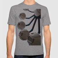 Baseball Ferris Wheel Mens Fitted Tee Athletic Grey SMALL
