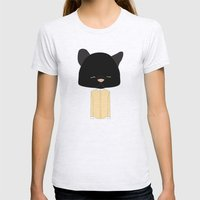Mrs. Pussy Gata Womens Fitted Tee Ash Grey SMALL