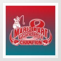 Mario Kart 8 Champion Art Print