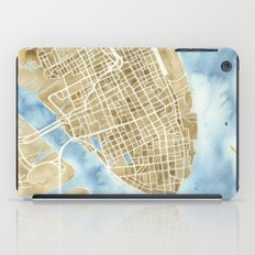 Charleston, South Carolina City Map Art Print iPad Case