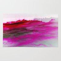 Purple Clouds Red Mounta… Rug