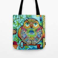 judaica folk owl Tote Bag