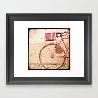 I Took My Bike And Went … Framed Art Print