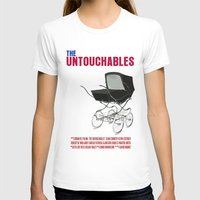 movie poster T-shirts featuring The Untouchables Movie Poster by FunnyFaceArt
