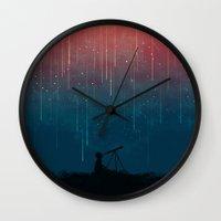 Meteor Rain Wall Clock