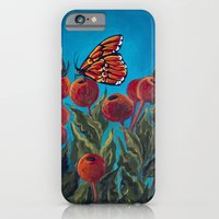 iPhone & iPod Case featuring Butterfly in Rose Hips by Charlotte Curtis