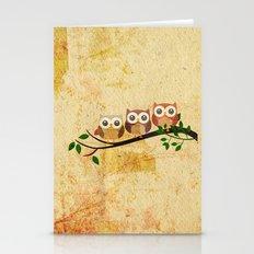 Vintage Owls Stationery Cards