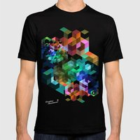 TETRIS Mens Fitted Tee Black SMALL