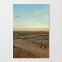 Dirt Moon Sunset Canvas Print