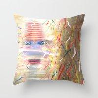 White Dreamer Throw Pillow