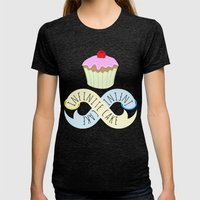 Infinite cake Womens Fitted Tee Tri-Black SMALL