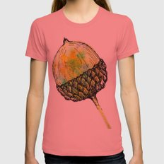 acorn Womens Fitted Tee Pomegranate SMALL